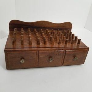 Vintage Wood Box jewlery trinkets organization
